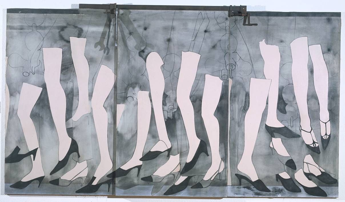 Walking Dream with a Four Foot Clamp - Jim Dine (1965)