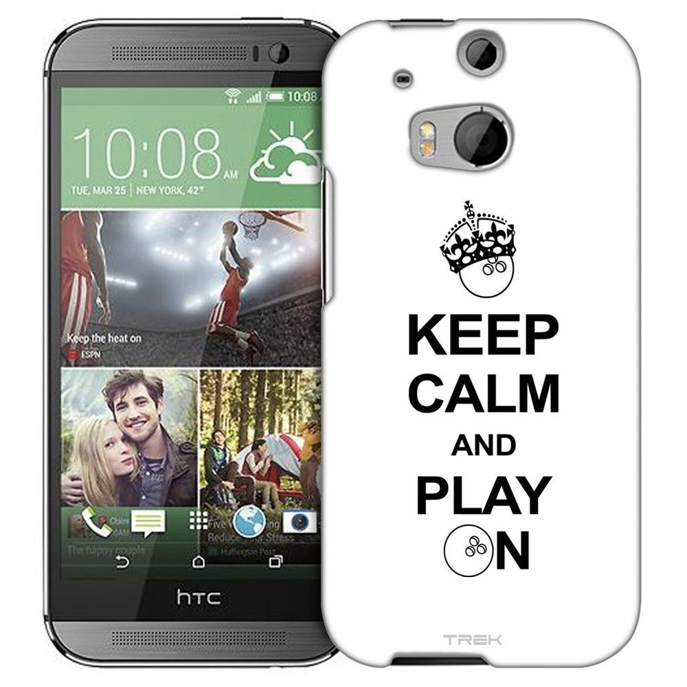 HTC One M8 KEEP CALM And Play On - Bowling on White Slim Case