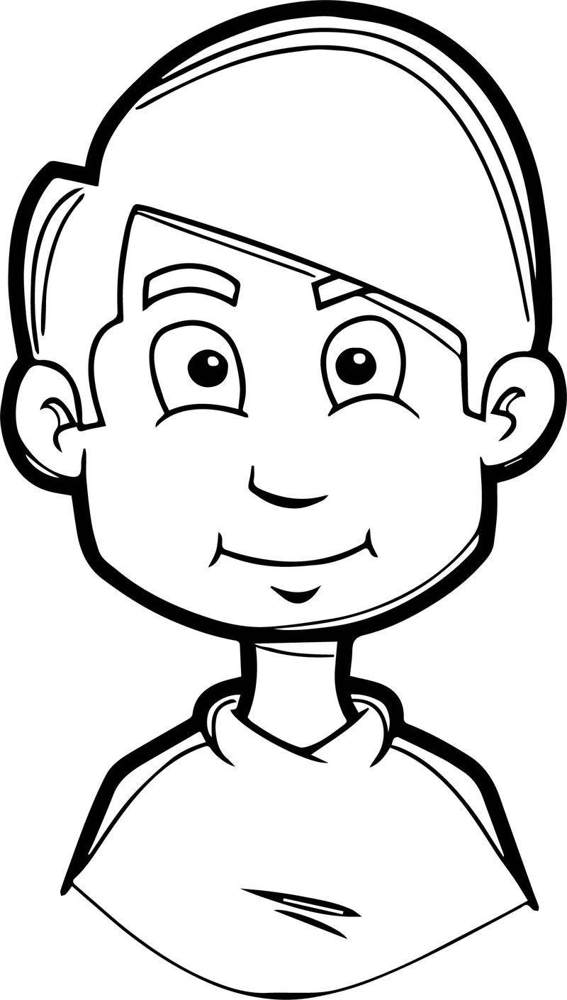 Boy Soccer Face Coloring Page See The Category To Find More