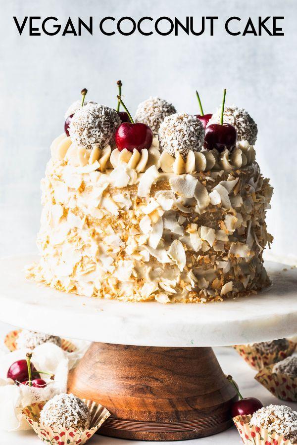 Vegan Coconut Cake Recipe Vegan Coconut Cake Coconut Cake Paleo Cake