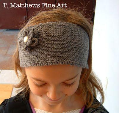 T Matthews Fine Art Free Knitting Pattern Headband Ear Warmer