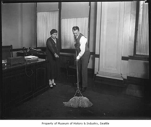 Municipal Housekeeping: After successfully serving as Seattle's mayor from 1926-1928, Bertha Knight Landes passes the torch to incumbent Frank Edwards, Seattle, ca. 1928