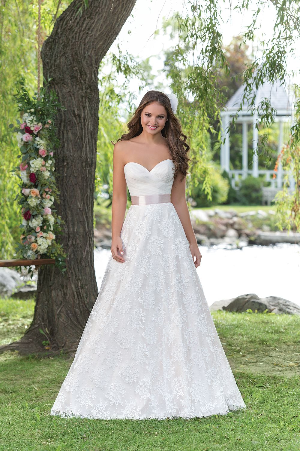 Sweetheart Gowns Style 6160: A sweetheart A-line wedding gown with a ...