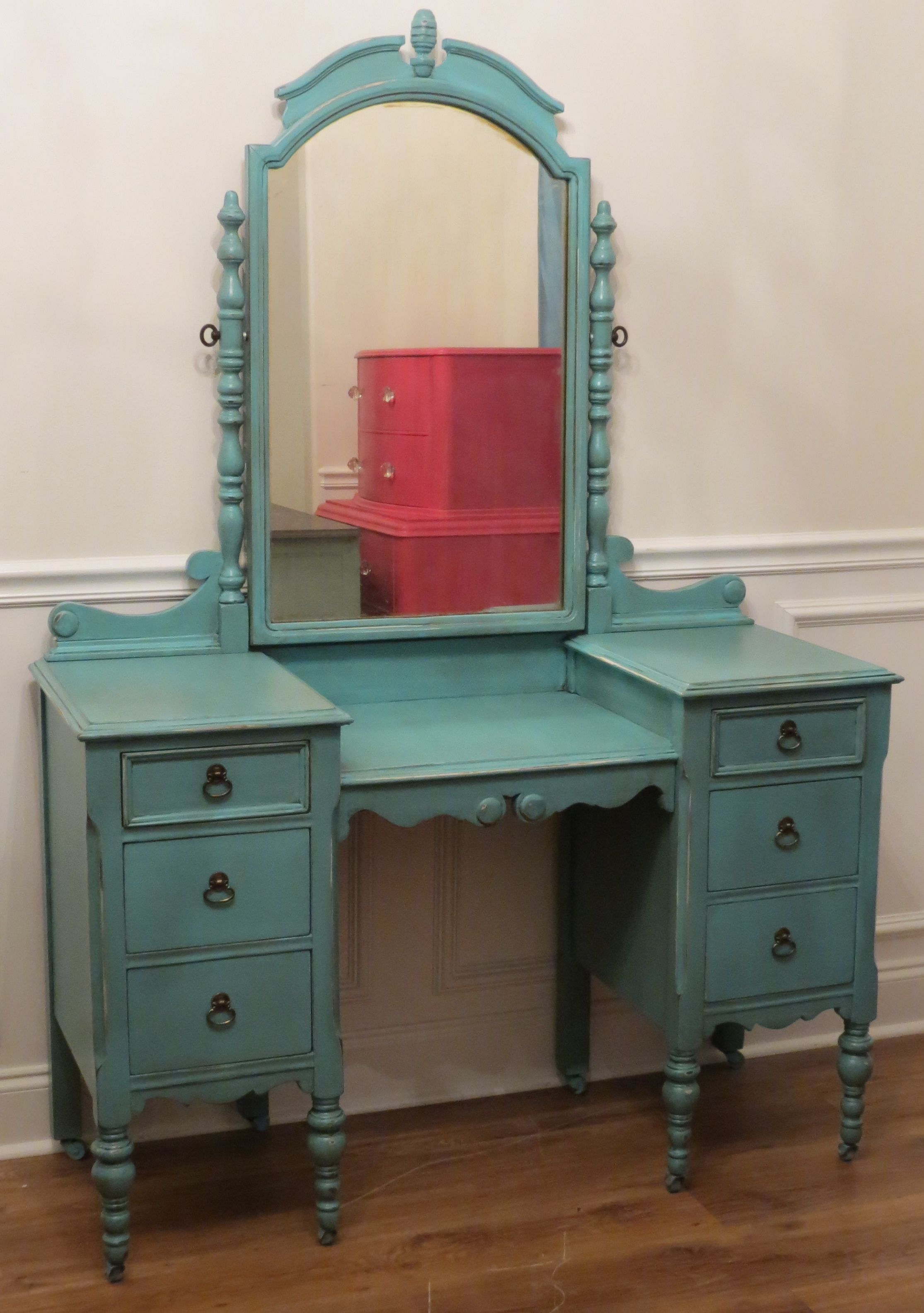Turquoise vanity by chrissies collection desksvanities turquoise vanity by chrissies collection geotapseo Images