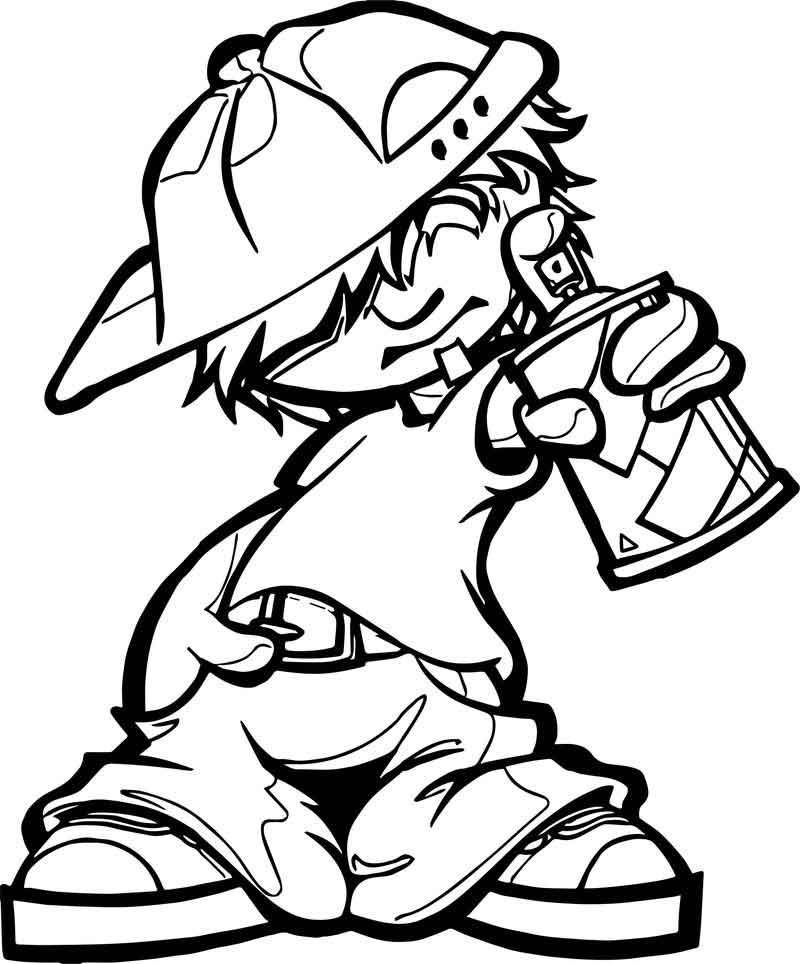 Spray Boy Characters Coloring Page Boy Character Coloring