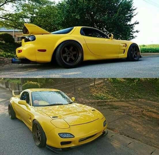 Banana Yellow RX-7 | Mazda rx7, Japan cars, Japanese cars