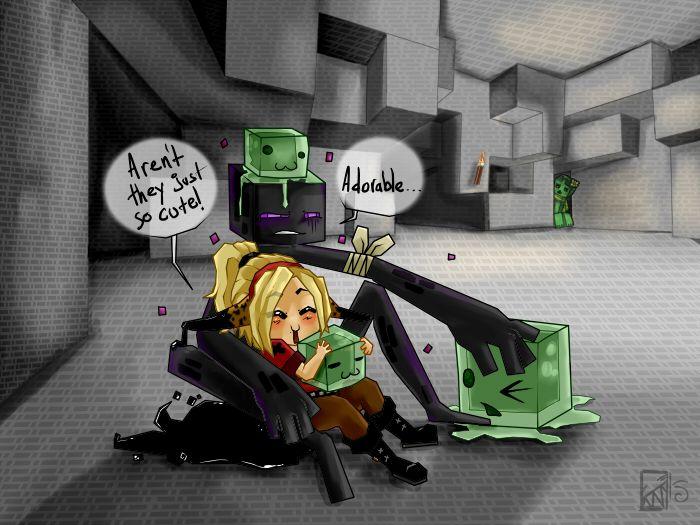Minecraft: Cute Slimes by Kinla on DeviantArt