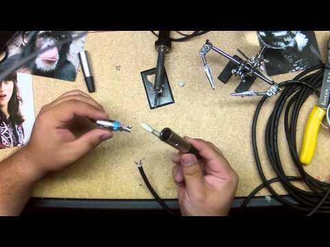 How To Solder Xlr Connections To Make A New Xlr Cable Cable Connectors Cable Wire