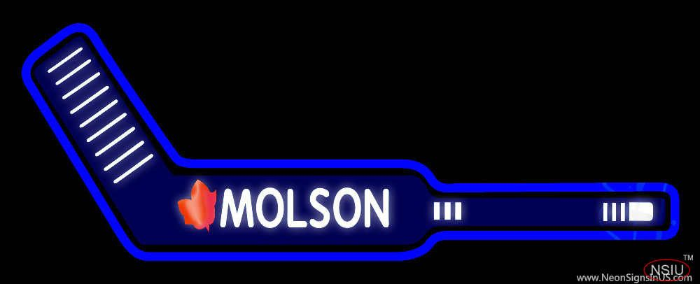 Molson Hockey Stick Beer Real Neon Glass Tube Neon Sign Affordable And Durable Made In Usa If You Want To Get It Please Click The Neon Signs Neon Hockey Stick