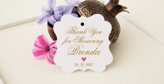 bridal thanks favor tags thank you shower tags by diycraftyscraps
