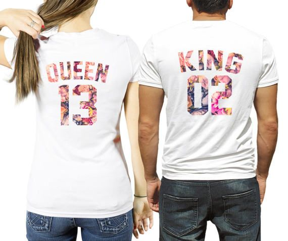 King And Queen Custom Number Shirts Flower Le Fleur Anniversary Gift Idea S