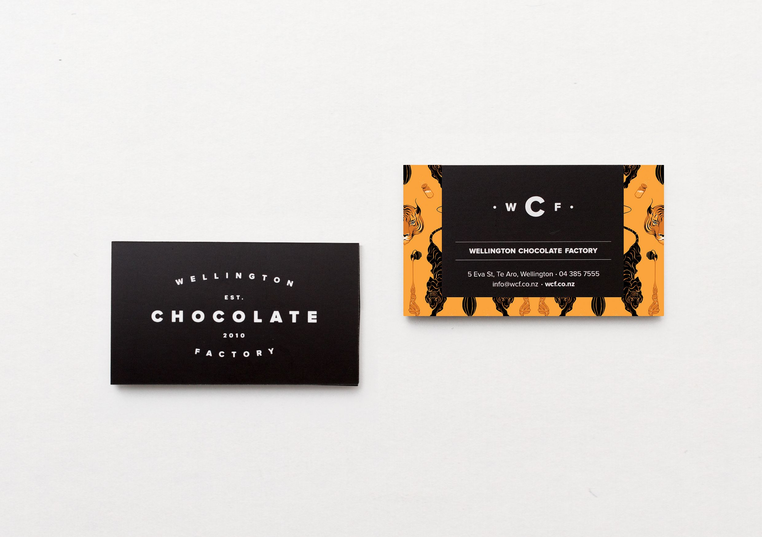 Wellington Chocolate Factory - Business Cards by Inject Design ...