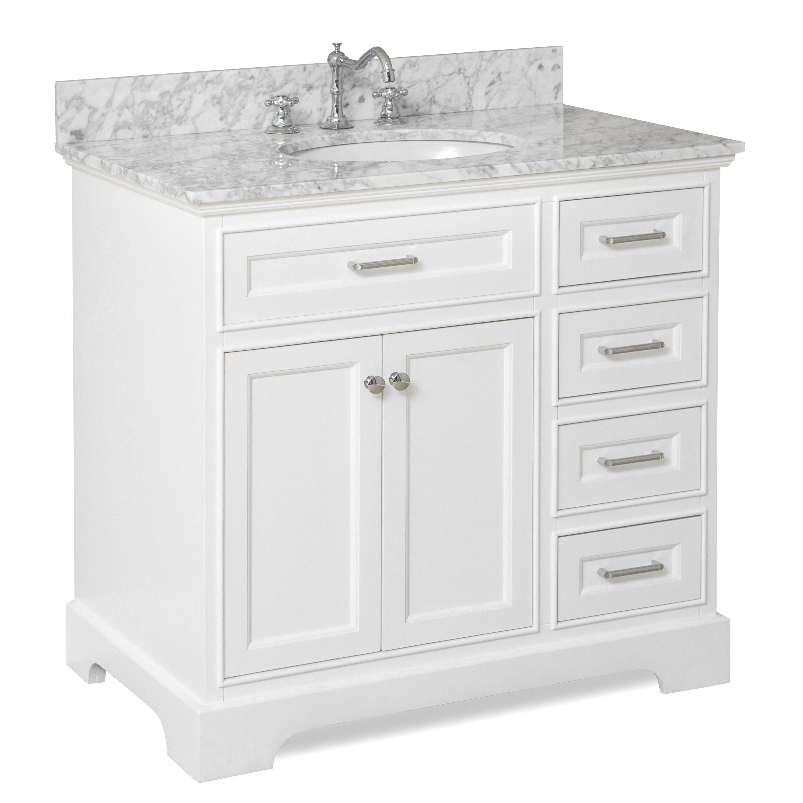 Aria single bathroom vanity set white vanityvanity set36