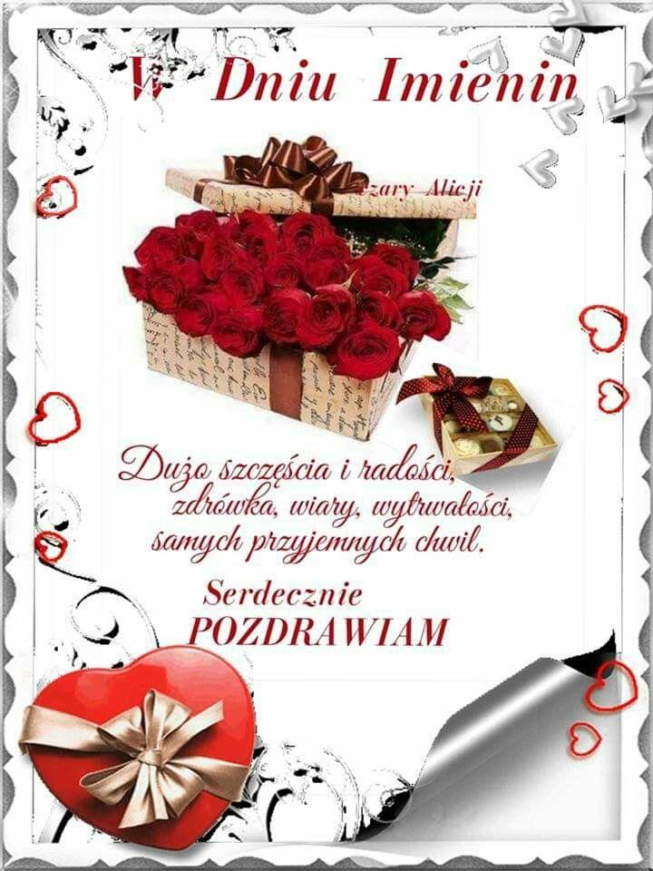 Pin By Malgorzata On Zyczenia Imieninowe Place Card Holders Birthday Wishes Cards