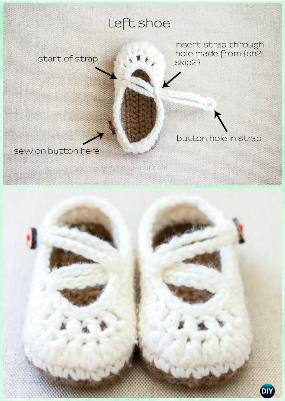 Crochet Double Strapped Mary Janes Free Pattern - #Crochet Baby ...
