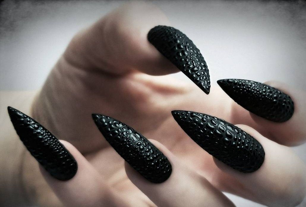 Goth Nails Misc Pinterest Goth Nails Makeup And Manicure