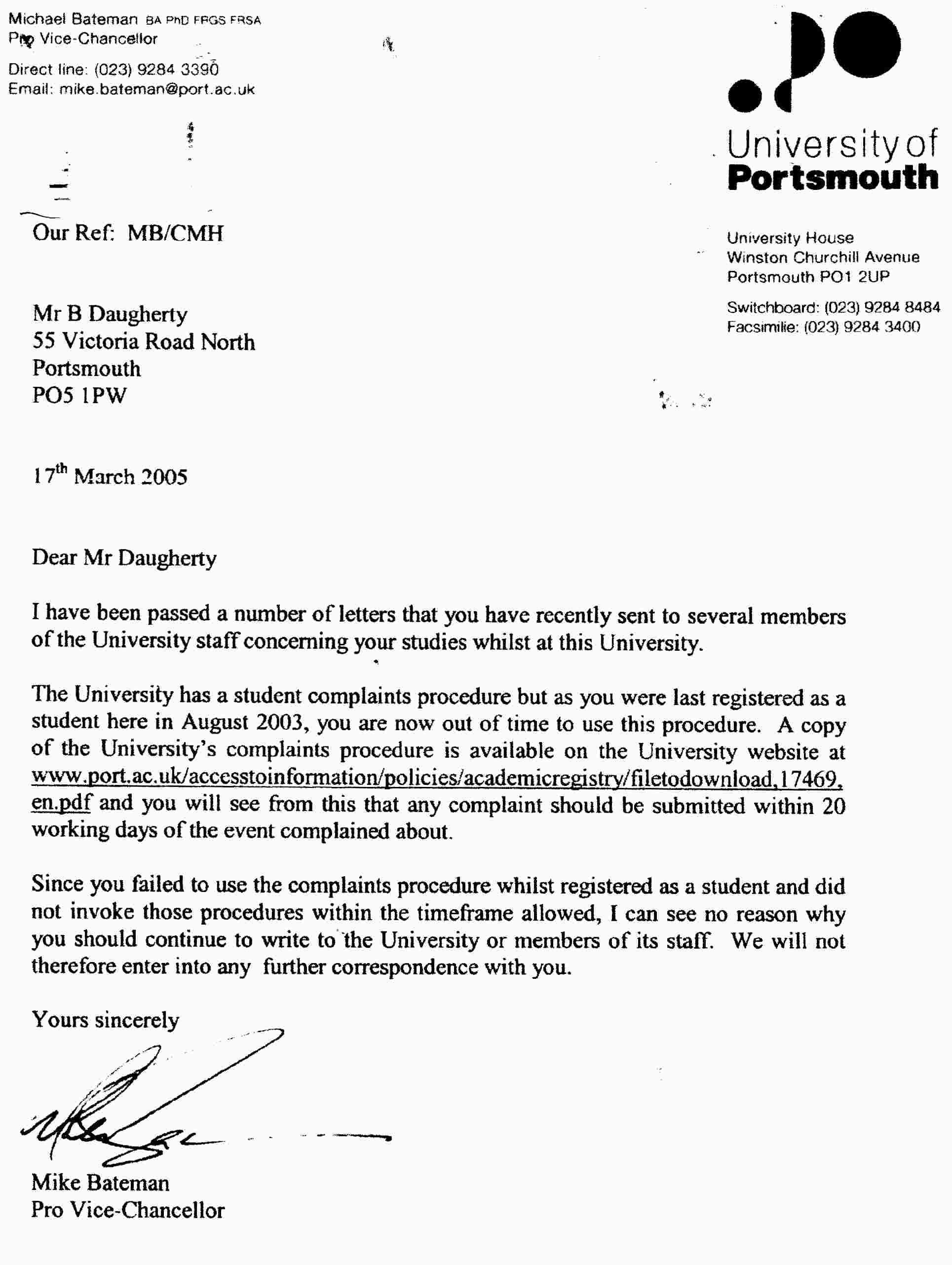 Mathematics portsmouth university attempting get refund letter mathematics portsmouth university attempting get refund letter claim for injury sample spiritdancerdesigns