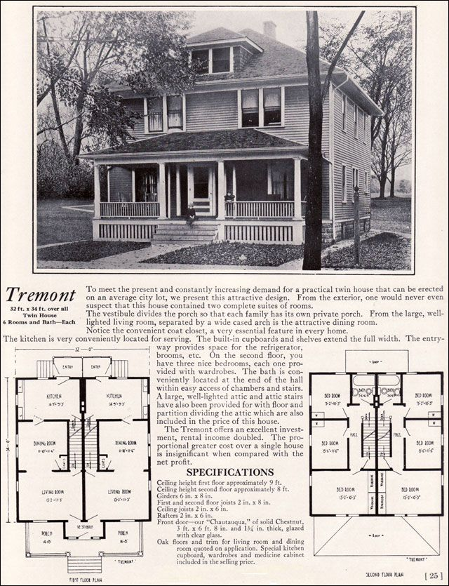 1922 tremont duplex bennett homes of north tonawanda ny for Kit homes duplex