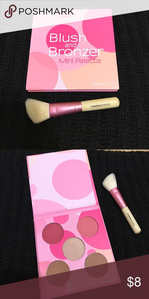 Blush & Bronzer mini palette Coastal Scents blush and bronzer mini palette w/brush **NEVER USED** Coastal Scents Makeup Blush