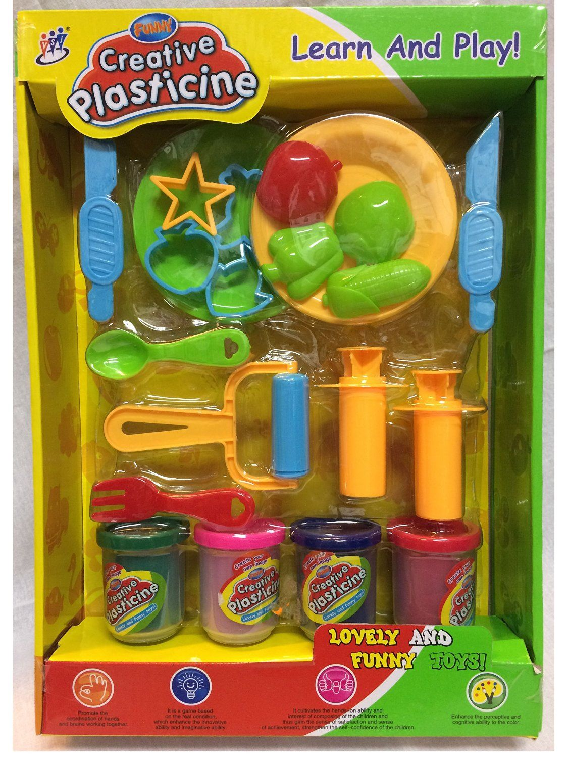 cfccbff9f Amazon.com: Creative Plasticine Play Dough And Modeling Clay Play set with  accessories: Toys & Games