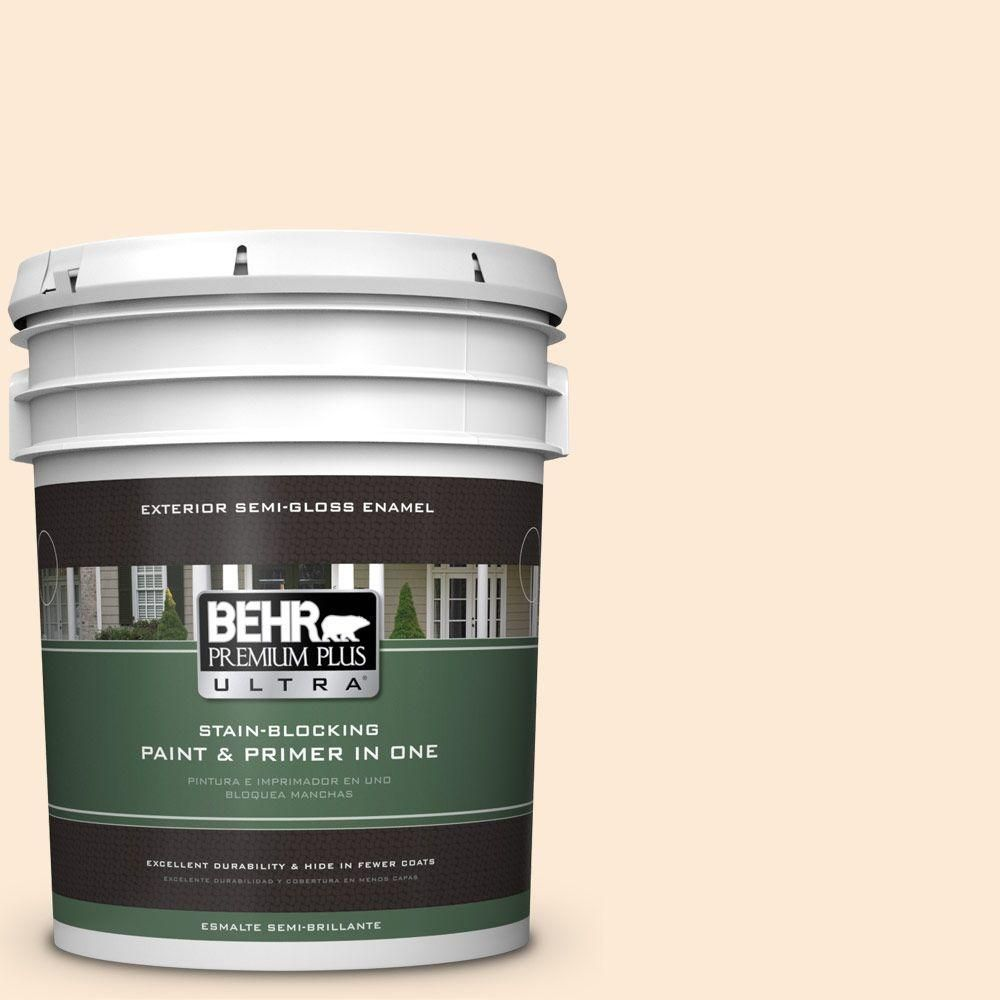 BEHR Premium Plus Ultra 5-gal. #280A-1 Creamy Orange Semi-Gloss Enamel Exterior Paint