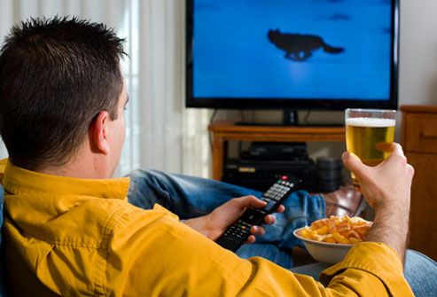 man watching tv and beer - Google Search