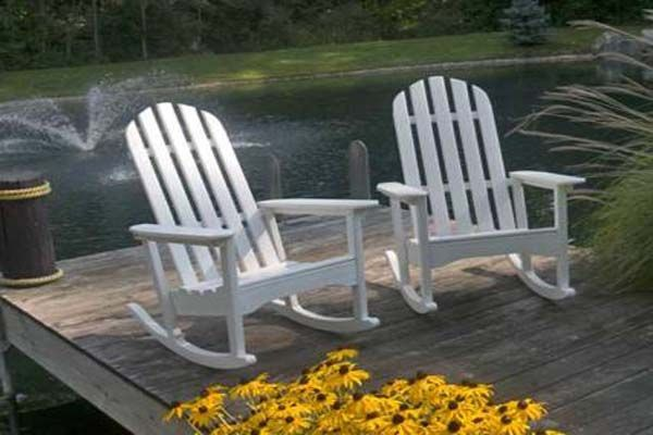 The Contour On The Seat Makes For A Comfortable Outdoor Rocker To Relax  Your Afternoon Away In! The POLYWOOD® Classic Adirondack Rocking Chair ...