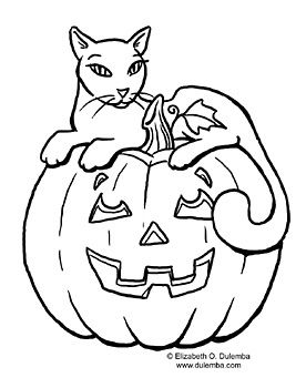 Cat With Pumpkin Elizabeth Lockhart Lockhart Dulemba S Website Pumpkin Coloring Pages Halloween Coloring Pages Printable Halloween Coloring