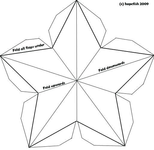 Как сделать объемную звезду на открытку 9 мая своими руками, для