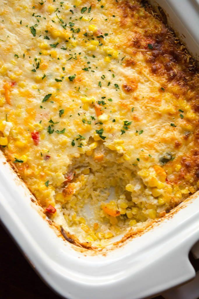 Add enough water to almost cover meat (4 to 6 cups). Cheesy Slow Cooker Corn Casserole Recipe   Corn casserole ...