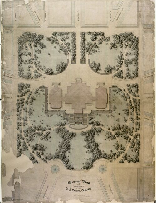 Olmstead's 1874 landscape design plan for the United States Capitol, was a 15-year installation project.