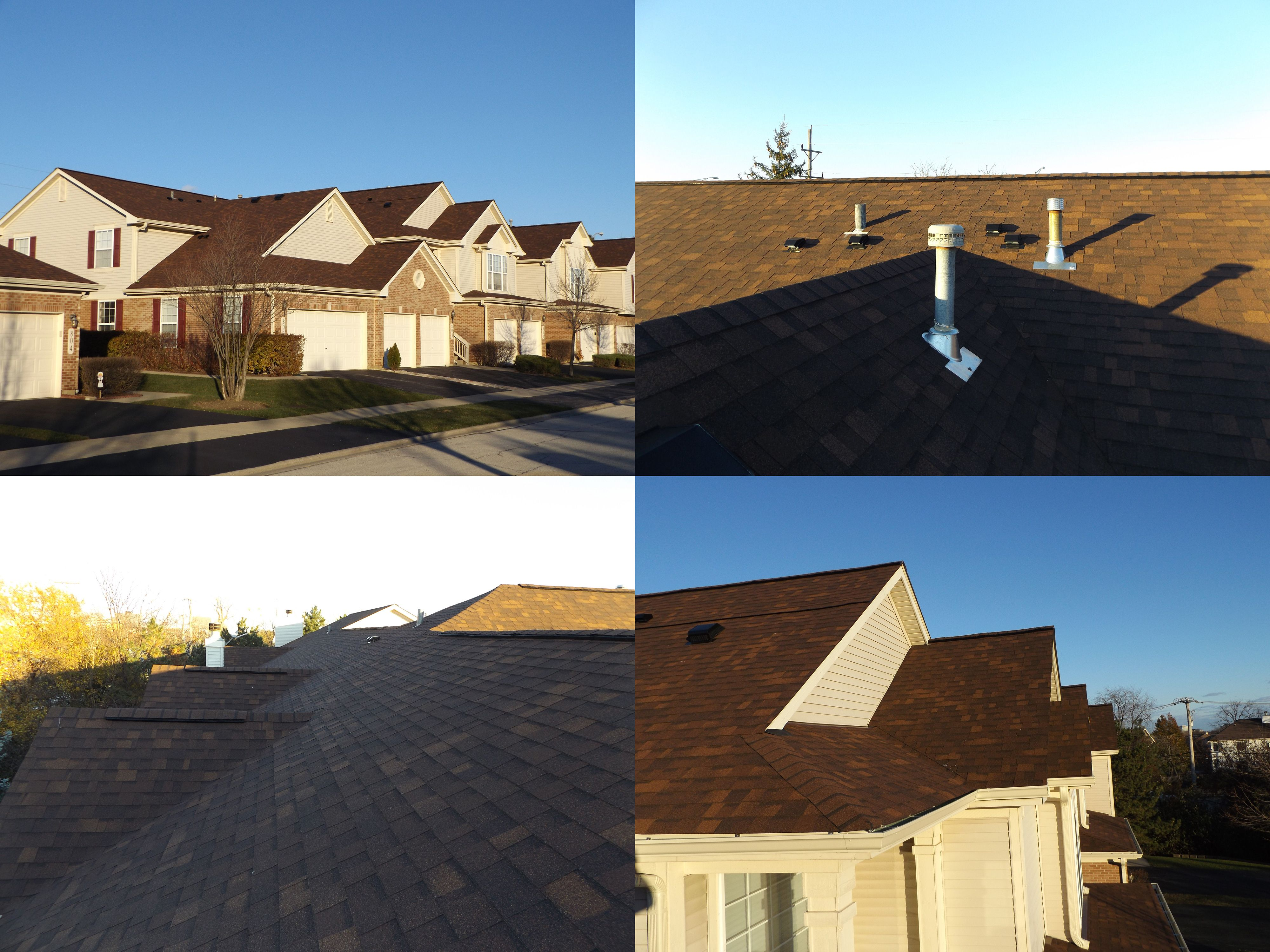 This Is A Recently Finished Multi Family Roofing Job This Roof Replacement Consists Of Owens Corning Oakridge Shingles In Brownwo Roofing Roofing Jobs Roofer