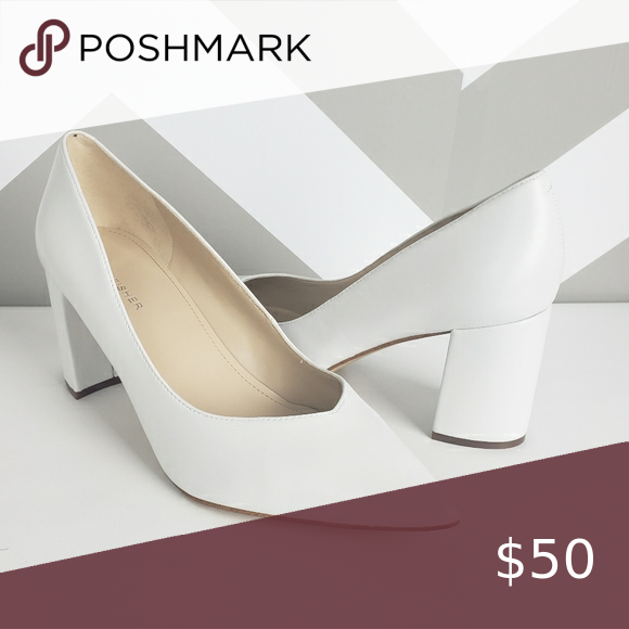 Marc Fisher White Leather Pumps Size