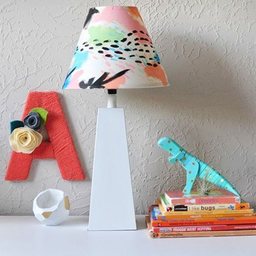11 Designer Decor Looks You Can Make On The Cheap Colorful Lamp Shades Diy Lamp Makeover Painting Lamps