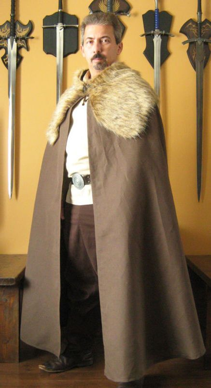 Details about Medieval Celtic Viking Barbarian Cape Cloak with Fur