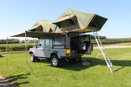 2012 Land Rover 110 Defender Expedition 4x4 with 2 double pop up tents - 4 berth & 2012 Land Rover 110 Defender Expedition 4x4 with 2 double pop up ...