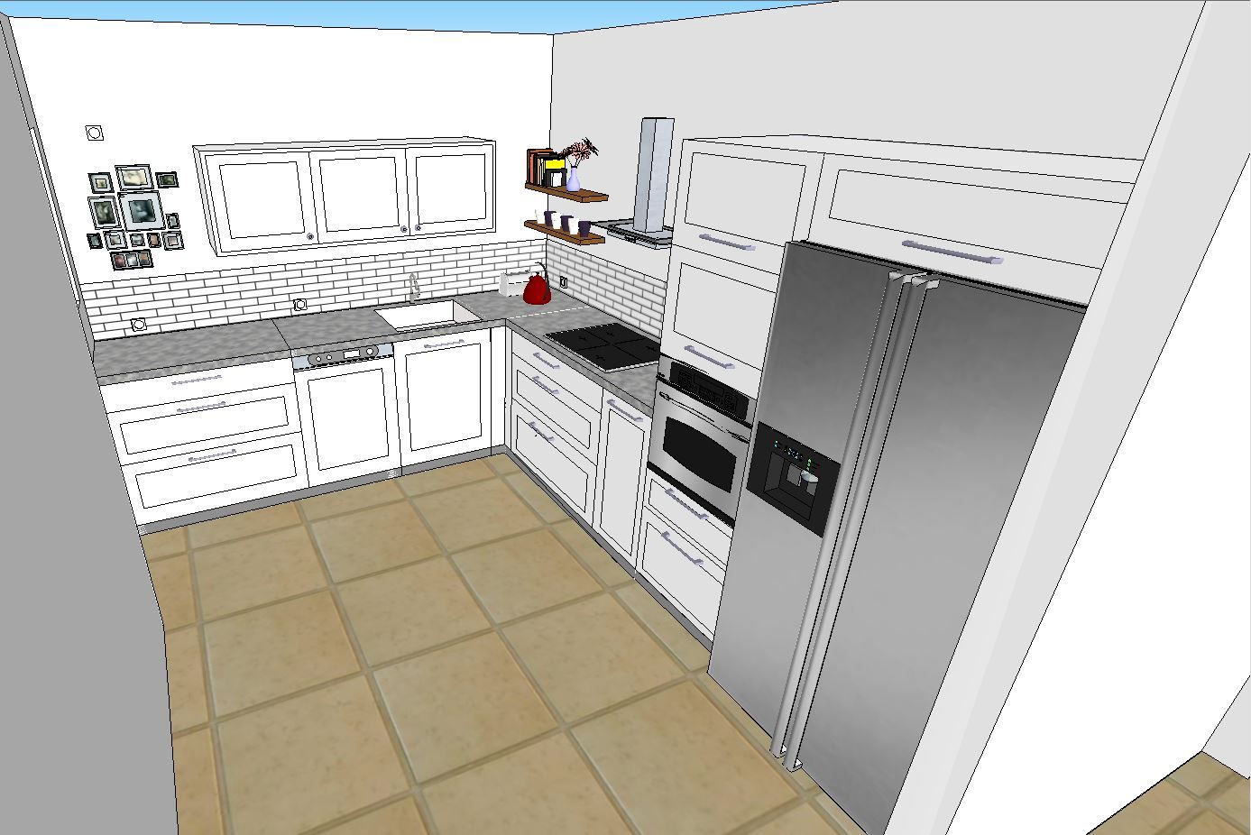 Our Sketchup Kitchen Old Style Kitchen Models New Kitchen Kitchen