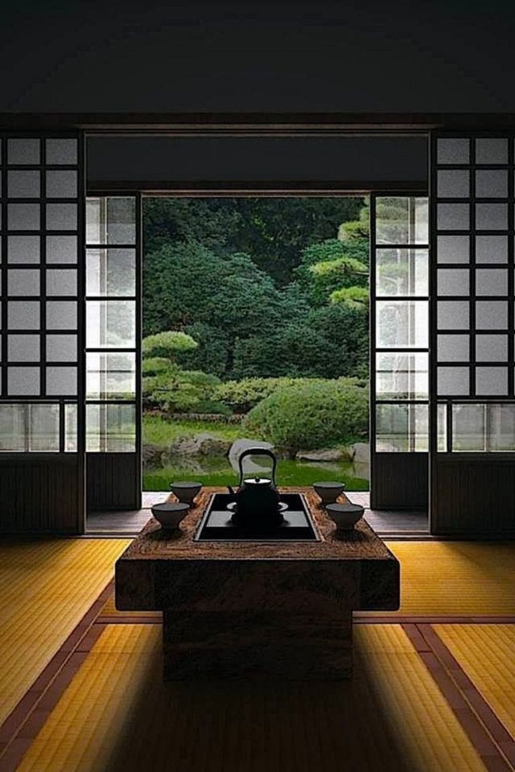 Awesome Japanese Living Room Decor Ideas 46 Japanese House Japanese Interior Design Japanese Decor
