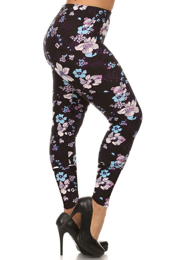 Falling Daisies Design Plus Size Leggings | Bottoms Up | Pinterest ...