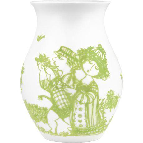 Bjørn Wiinblad  Rosengarden Vase Grøn 18 cm - billede 1