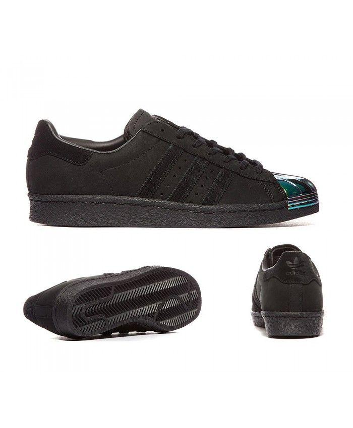 the latest e0132 aa5ce Adidas Originals Superstar 80s Core Black Shoes