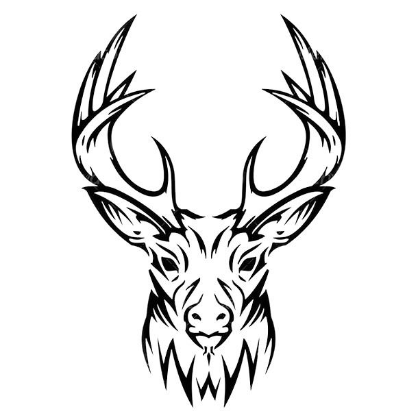 Tribal Deer Head Tattoo Design Deer Skull Drawing Deer Head Tattoo Deer Drawing