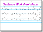 Amazing D'Nealian Handwriting Worksheet Maker | Homeschool ...