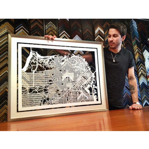 Wow Our Friends From Underglass Custom Framing Made This Cutout Of