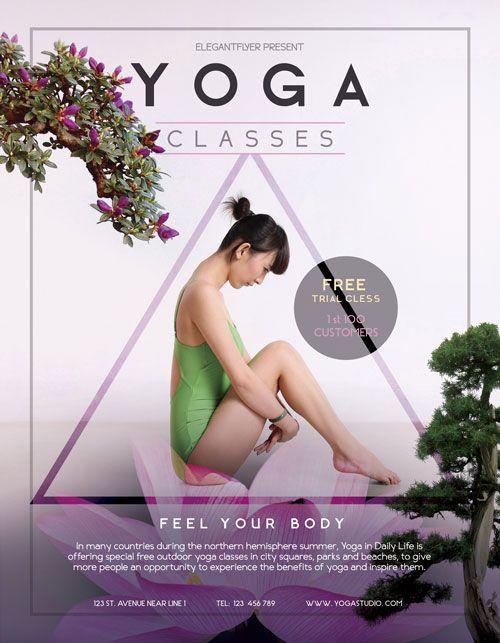 Free Yoga Flyer Template - http\/\/freepsdflyer\/free-yoga-flyer - yoga flyer