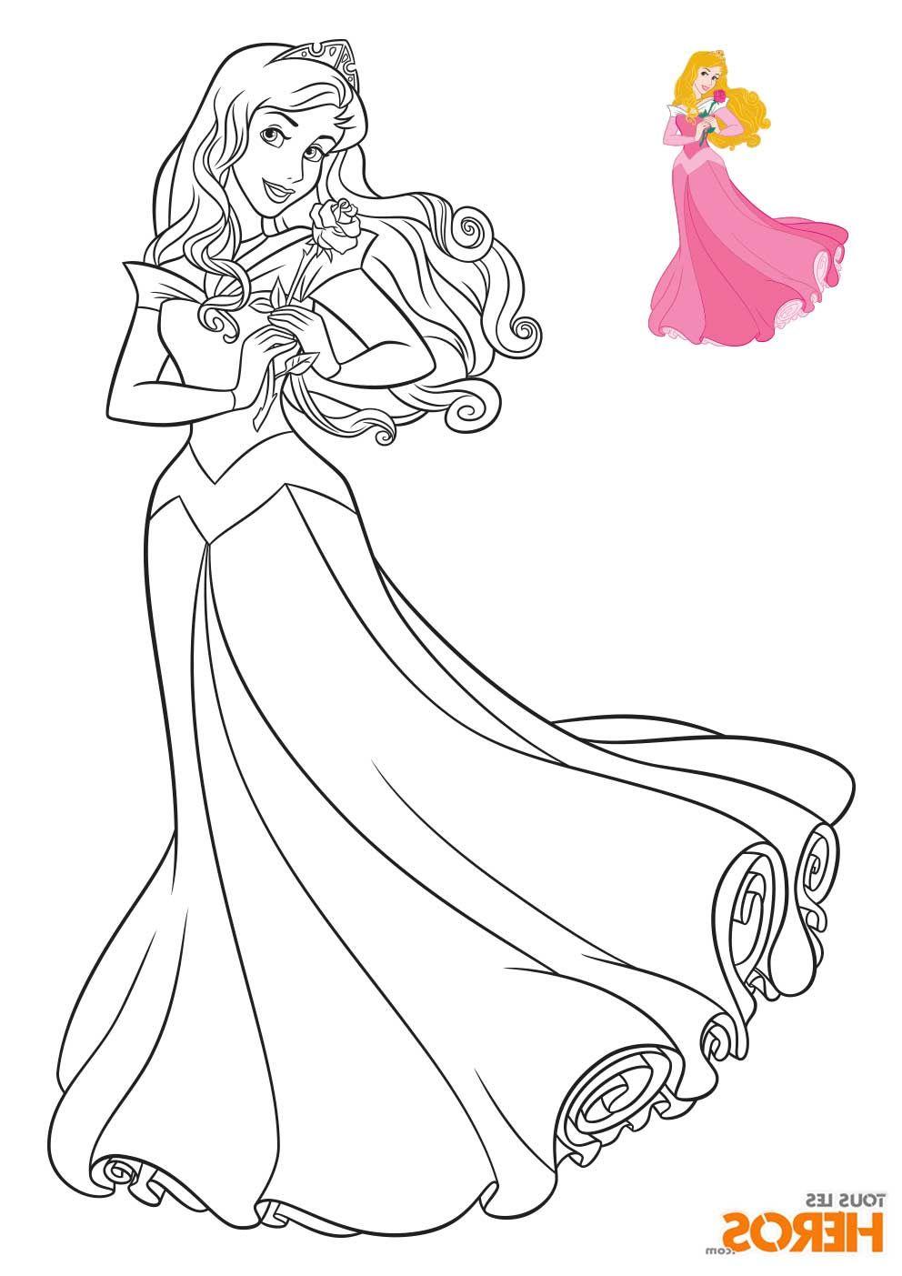Coloriage Princesse Disney à imprimer en ligne  Coloriage