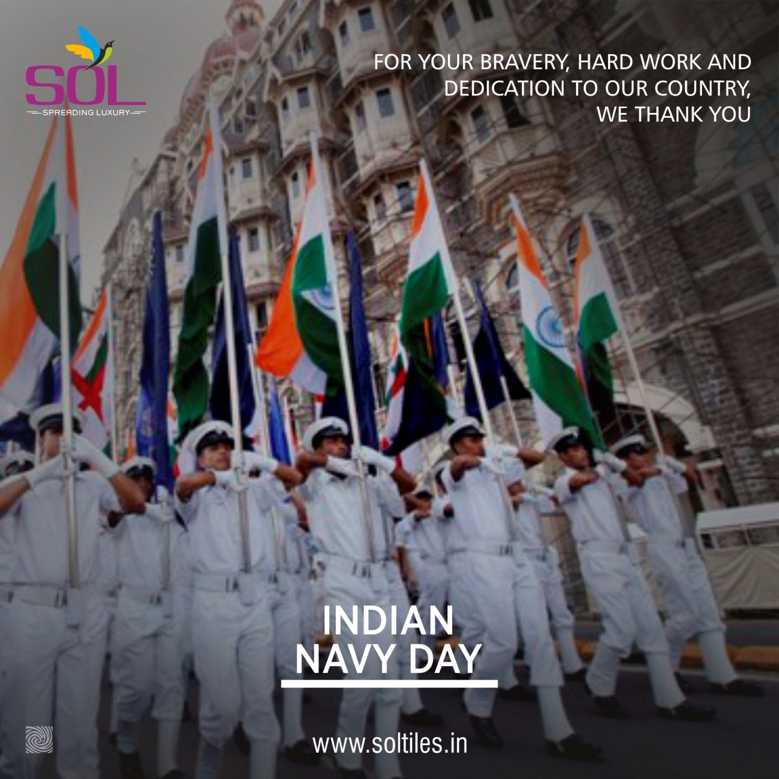 For Your Bravery Hard Work And Dedication To Our Country We Thank You Happy Indian Navy Day Indiannavyday Indiann Indian Navy Day Navy Day Military Quotes