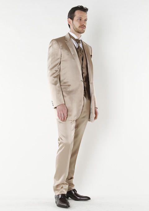 2013 New Designed Short Tuxedos 100% Wool Champagne Wedding Tuxedos ...