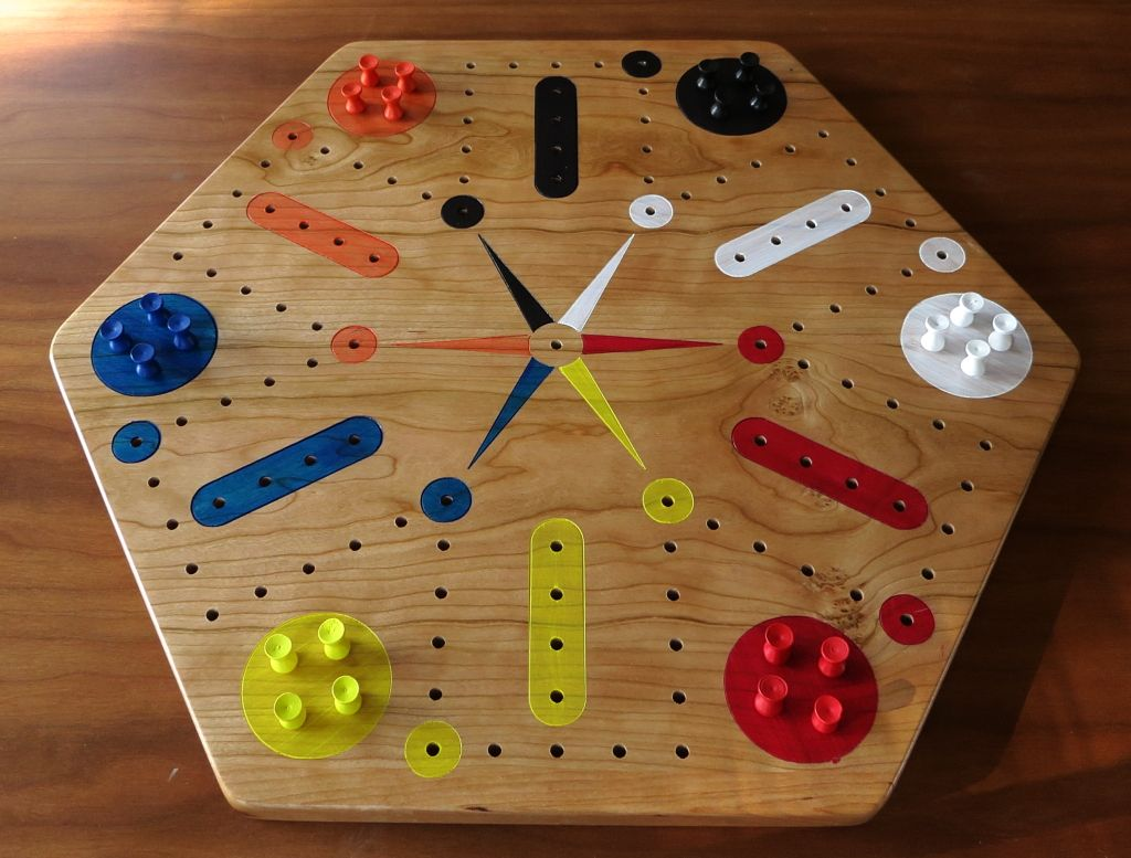 Game board colors - Cherry Fast Track Aggravation Game Board With Pegs