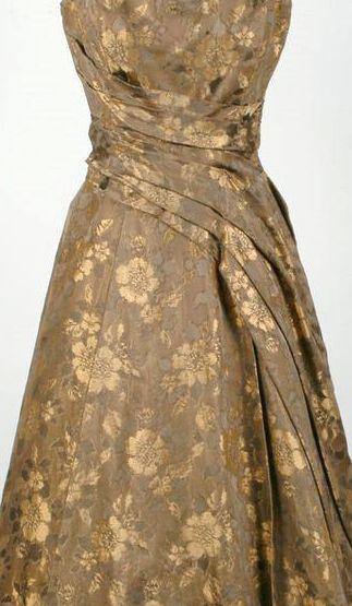 Robe soiree doree vintage